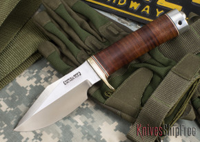 Randall Made Knives: Model 19-4 Bushmaster - Stacked Leather - 101109