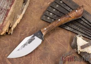 Lon Humphrey Knives: Custom Muley - Forged 52100 - Curly Koa #226
