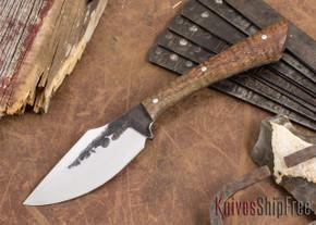 Lon Humphrey Knives: Custom Muley - Forged 52100 - Curly Koa #227