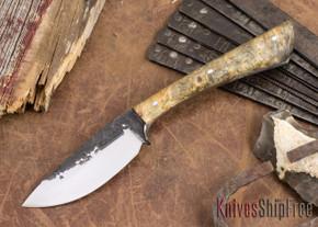 Lon Humphrey Knives: Custom Muley - Forged 52100 - Buckeye Burl #231