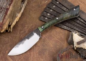 Lon Humphrey Knives: Custom Muley - Forged 52100 - Blue Burl #237