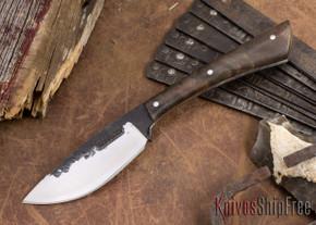 Lon Humphrey Knives: Custom Muley - Forged 52100 - Claro Walnut Burl #247