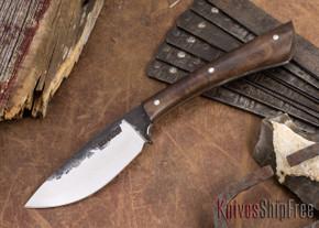 Lon Humphrey Knives: Custom Muley - Forged 52100 - Claro Walnut Burl #248