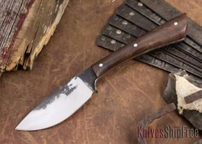 Lon Humphrey Knives: Custom Muley - Forged 52100 - Claro Walnut Burl #249