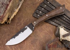 Lon Humphrey Knives: Custom Muley - Forged 52100 - Claro Walnut Burl #250