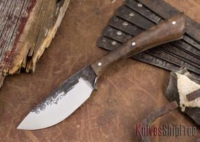 Lon Humphrey Knives: Custom Muley - Forged 52100 - Claro Walnut Burl #251