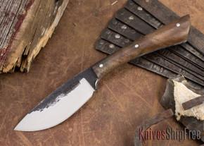Lon Humphrey Knives: Custom Muley - Forged 52100 - Claro Walnut Burl #252