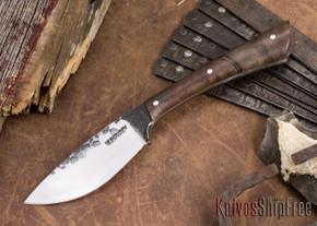 Lon Humphrey Knives: Custom Muley - Forged 52100 - Claro Walnut Burl #253
