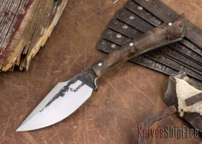 Lon Humphrey Knives: Custom Muley - Forged 52100 - Claro Walnut Burl #256