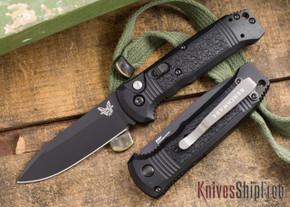 Benchmade Knives: 4400BK Casbah - Auto - Black Blade