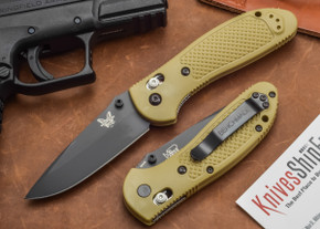Benchmade Knives: 551BKSN Griptilian - Modified Drop Point - Desert Sand
