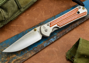 Chris Reeve Knives: Large Sebenza 21 - Amazon Bloodwood Inlay - A
