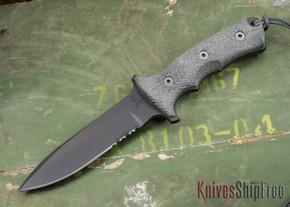 "Chris Reeve Knives: Green Beret - 5.5"" - Black PVD - Serrations"