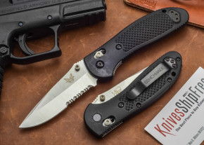 Benchmade Knives: 551S Griptilian - Modified Drop Point - Serrated