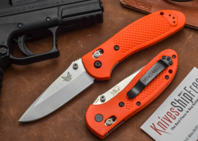 Benchmade Knives: 551ORG Griptilian - Modified Drop Point - Orange