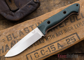 Benchmade Knives: 162 Sibert Bushcrafter - Green G-10
