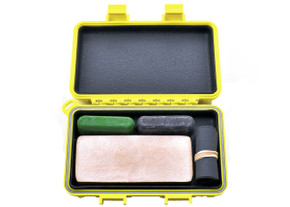 Complete Sharpening Kit for Field or Home w/ S3 Dry Box - Yellow