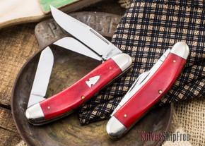 Northwoods Knives:  Three Blade Sowbelly - Smooth Bone