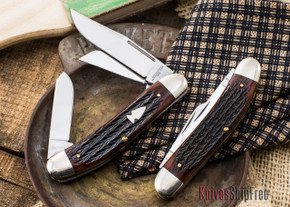 Northwoods Knives:  Three Blade Sowbelly - Italian Jigged Bone