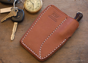 KSF Leather: Adirondack Leather Pocket Sheath with Pocket