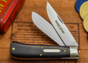 Great Eastern Cutlery: #73 Tidioute - Trapper - Ebony Wood - Two Blade