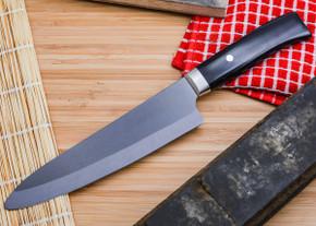 "Kyocera: Limited 7"" Ceramic Chef - Handcrafted Pakka Wood Handle"