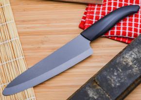 "Kyocera: Revolution 7"" Black Ceramic Professional Chef's Knife"