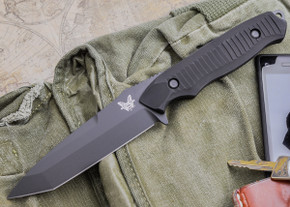 Benchmade Knives: 141BK Nimravus - Fixed Blade - Tanto - Black Finish