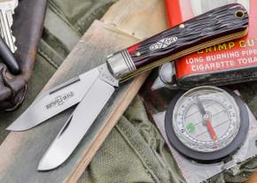 Great Eastern Cutlery: #74 Northfield Un-X-LD - Ranch Hand - Blood Red Jig Bone