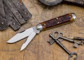Great Eastern Cutlery: #78 Tidioute ̐ American Jack - Chestnut Jig Bone - Unserialized