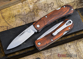 Benchmade Knives: 15056-2 HUNT - Small Summit Lake - Stabilized Wood