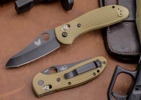 Benchmade Knives: 550BKHGSN Griptilian - Black Blade - Sand Scales