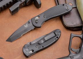 Benchmade Knives: 553SBK Griptilian Tanto - Serrated - Black Blade