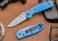 Benchmade Knives: 556-BLU Mini Griptilian - Blue Scales