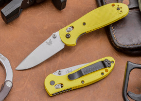 Benchmade Knives: 556-YEL Mini Griptilian - Yellow Scales