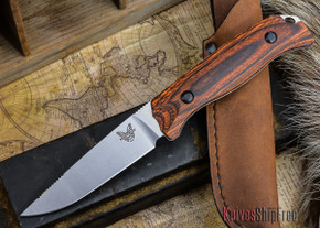 Benchmade Knives: 15007-2 HUNT - Saddle Mountain Hunter - Stabilized Wood