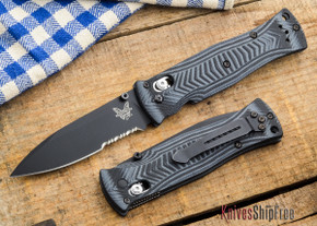 Benchmade Knives: 531SBK - Pardue - Axis - Drop Point - Serrated - Black Blade