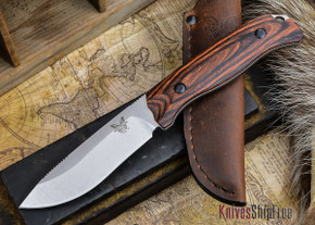Benchmade Knives: 15001-2 HUNT - Saddle Mountain Skinner - Stabilized Wood