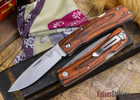 Benchmade Knives: 15051-2 HUNT - Big Summit Lake - Stabilized Wood