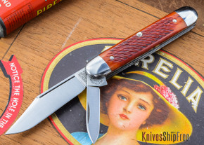 Great Eastern Cutlery: #68 - Tidioute - Rust Red Jig Bone