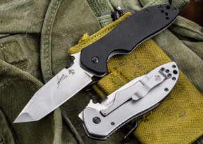 Kershaw Knives: Emerson CQC-7K - Tanto - Satin - Black G-10