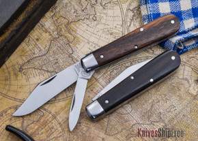 Great Eastern Cutlery: #15 - Tidioute - Huckleberry Boy's Knife - Ebony - Two Blade - Clip-point