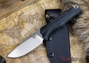Benchmade Knives: 15008-BLK HUNT - Steep Country Hunter - Black Santoprene