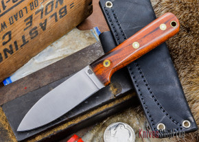 L.T. Wright Knives: Genesis - Desert Ironwood - Flat Ground - A2 Steel - #1