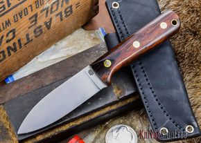 L.T. Wright Knives: Genesis - Desert Ironwood - Flat Ground - A2 Steel - #2