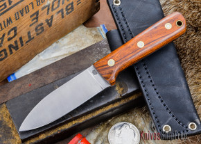L.T. Wright Knives: Genesis - Desert Ironwood - Flat Ground - A2 Steel - #4