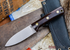 L.T. Wright Knives: Genesis - Desert Ironwood - Flat Ground - A2 Steel - #14