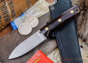L.T. Wright Knives: Genesis - Desert Ironwood - Flat Ground - A2 Steel - #24
