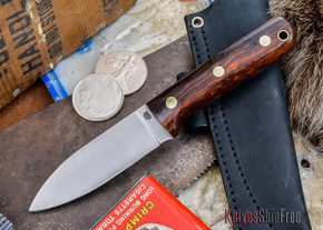 L.T. Wright Knives: Genesis - Desert Ironwood - Flat Ground - A2 Steel - #25