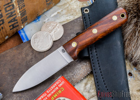 L.T. Wright Knives: Genesis - Desert Ironwood - Flat Ground - A2 Steel - #26